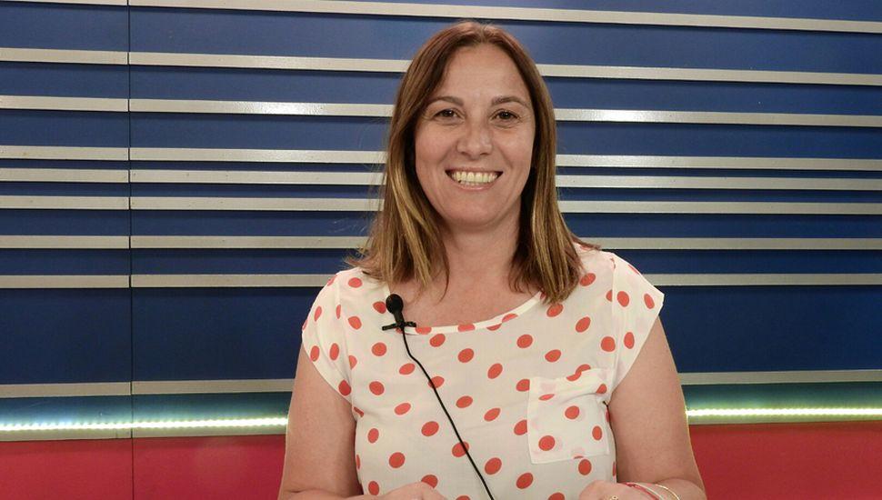 La diputada provincial Valeria Arata (Frente de Todos), en los estudios de TeleJunín.