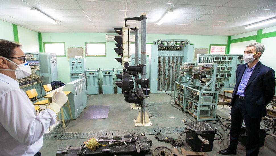 El ministro recorrió las instalaciones del Centro Nacional de Capacitación Ferroviaria (Cenacaf).