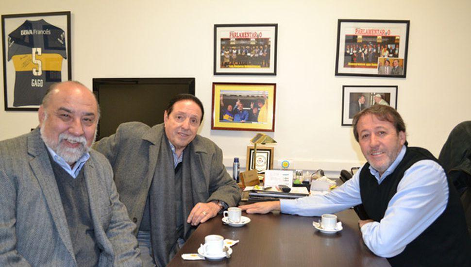 García recibió a sindicalistas.