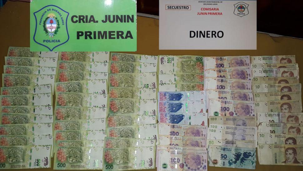 Parte del dinero sustraído fue usado por los malvivientes.