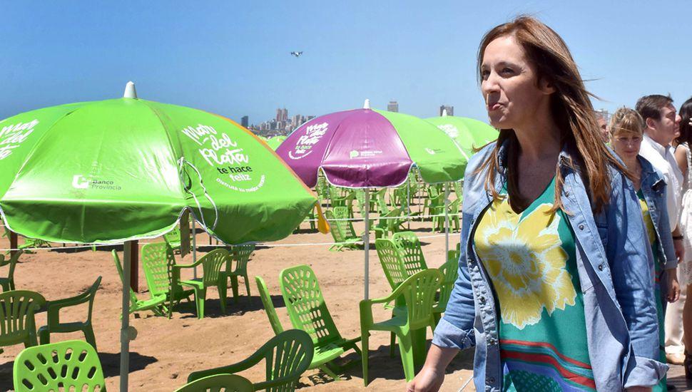 María Eugenia Vidal espera que una buena temporada de verano mejore el humor social, para afrontar una campaña electoral que promete ser muy dura.