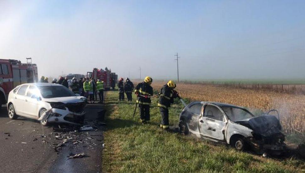 Choque frontal: un juninense perdió la vida en un accidente sobre Ruta 30