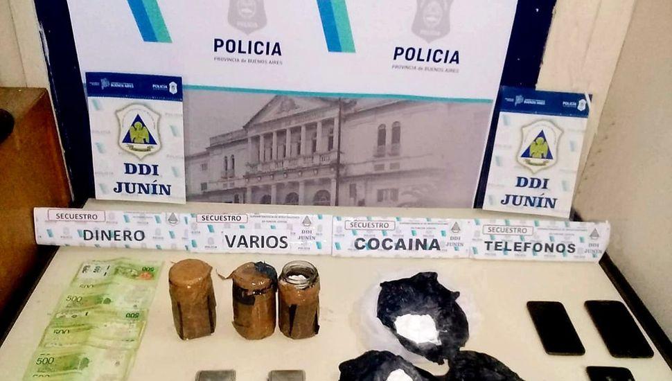 Incautaron 138 gramos de cocaína.