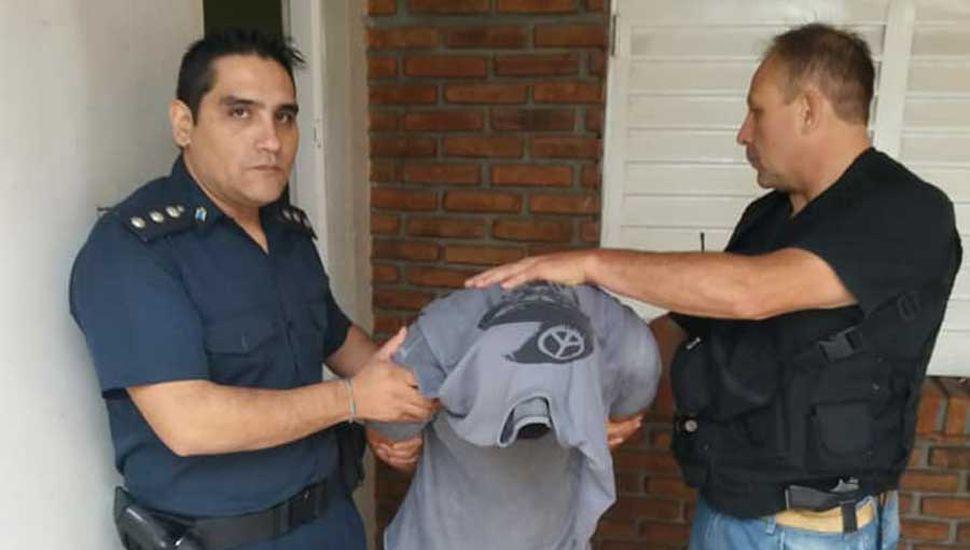 Un aprehendido por el robo  a mano armada en una casa