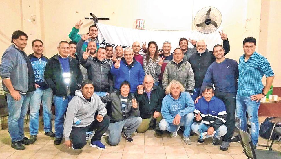 Victoria Muffarotto se reunió con la Agrupación Bases Ferroviarias.