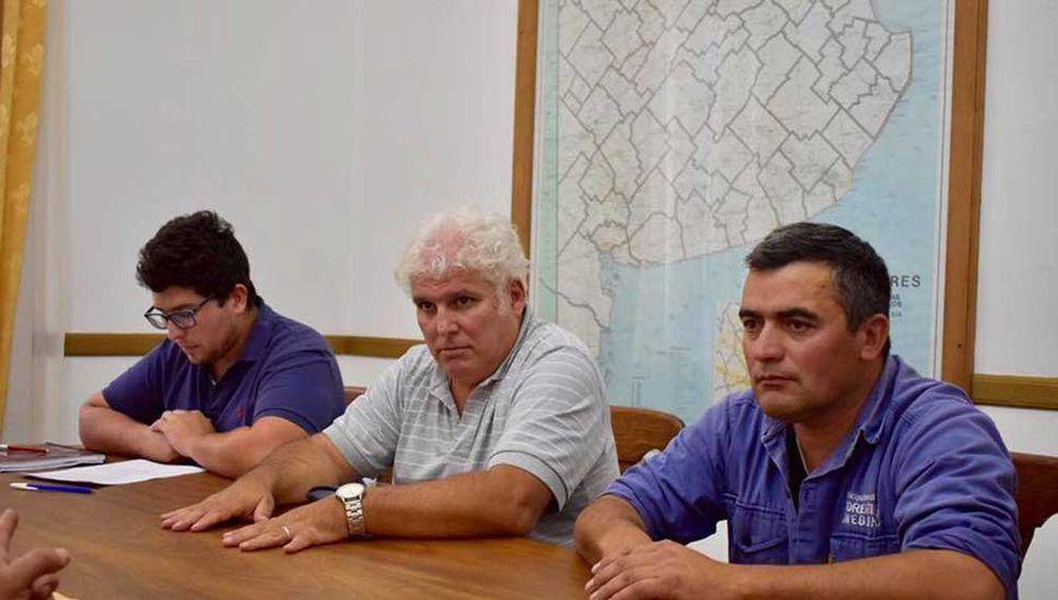 Participantes de la firma del acuerdo.