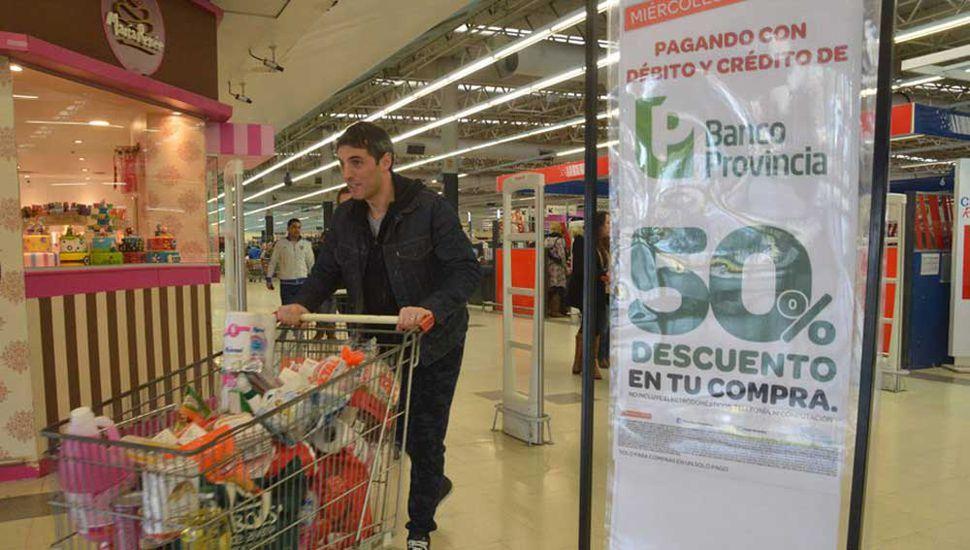 50% de descuentos en supermercados.