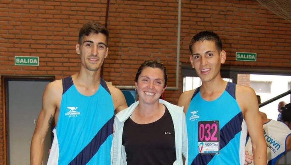 Lautaro Aloni, Estefanía Martínez y Marcelo Frías.
