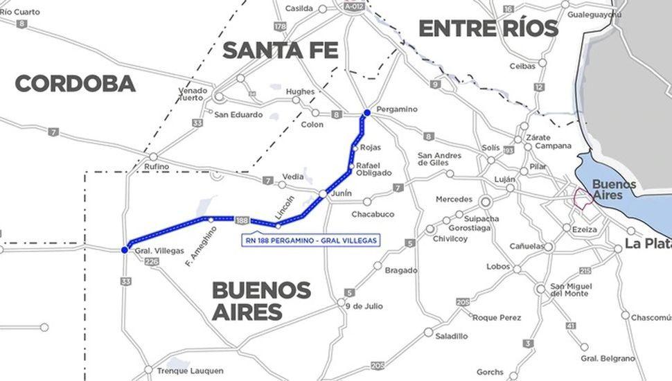 Anuncian el traspaso de cinco rutas, entre ellas la 188, a la administración del Estado