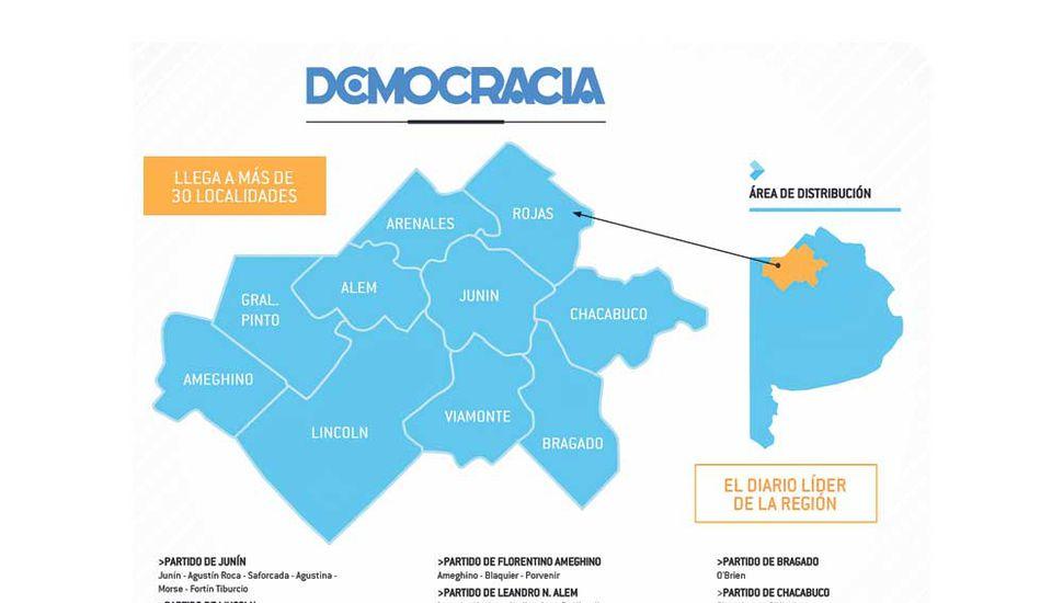 Democracia, el medio líder del noroeste bonaerense