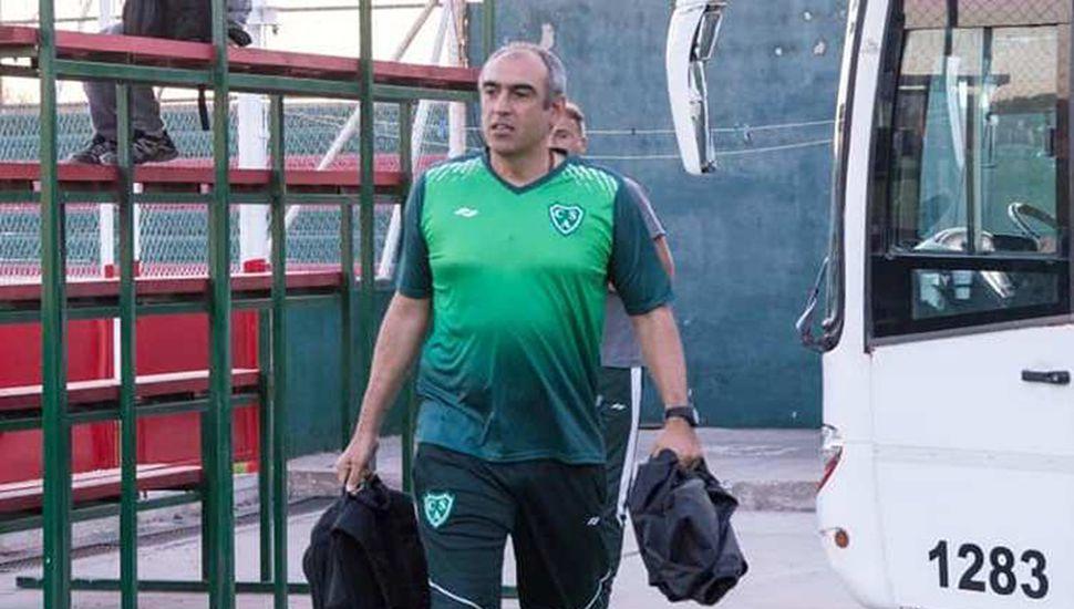 Iván Delfino, el DT del Verde, de gran campaña.