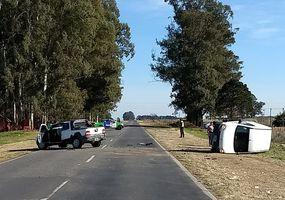 Accidente en la Ruta Provincial 65: dos menores trasladados al hospital