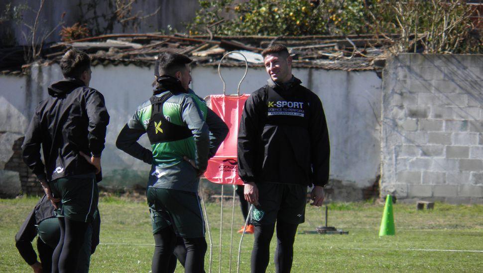 Ariel Cólzera y Fernando Núñez, en Ciudad Deportiva.