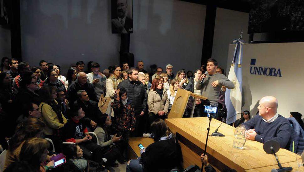 El año pasado Kicillof dio una charla en la Unnoba.