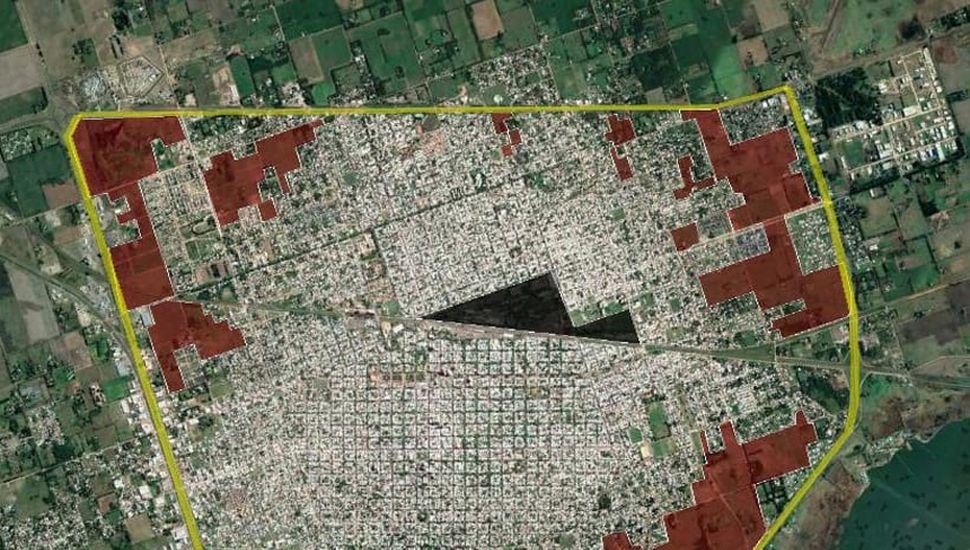 Un trabajo de la Asociación de Arquitectos establece que, de las 2300 hectáreas que tiene Junín, hay 400 vacantes dentro del casco urbano, sin contar los predios ferroviarios
