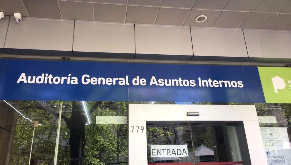 La sede de la Auditoría General de Asuntos Internos de la policía bonaerense.