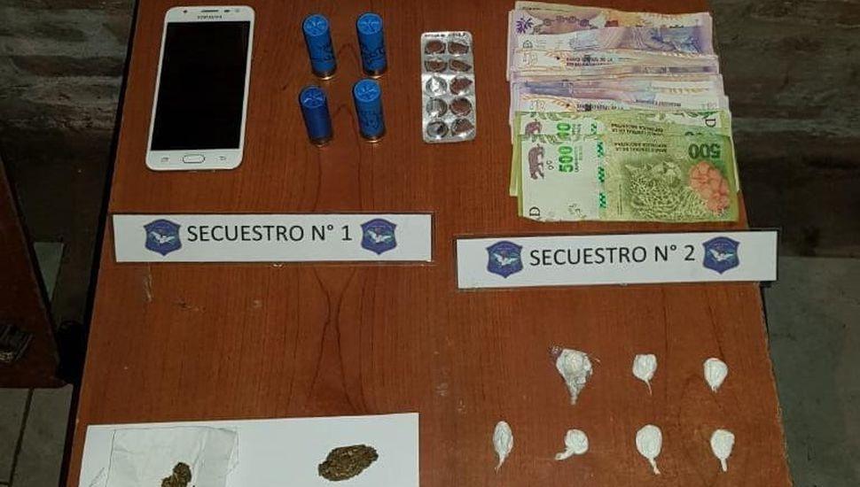 Incautan cocaína y marihuana en tres allanamientos en Villa del Parque