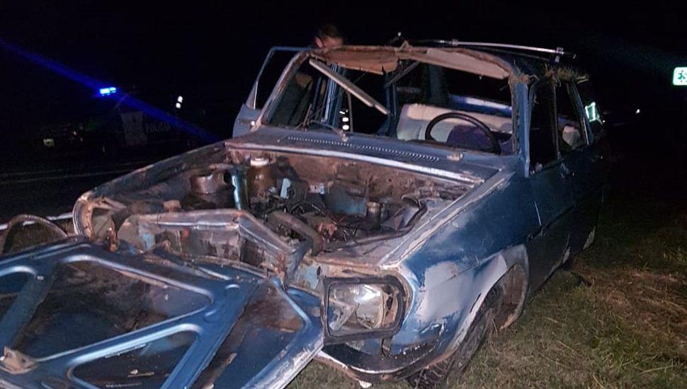 Un hombre se accidentó en Ruta 65 e hizo dedo para ir al hospital