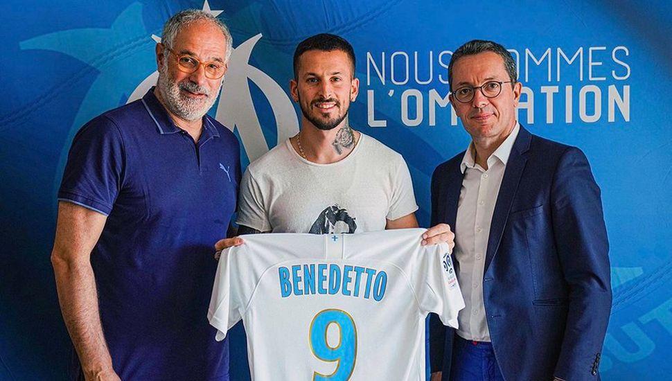 Darío Benedetto, ayer, en la presentación oficial.
