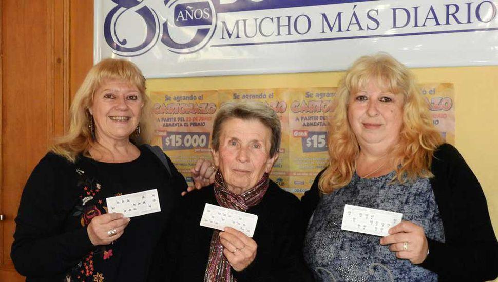 María Elena Larrechea, Estela Irene Fontana y Silvia Nancy Taramasco ganaron 45 mil pesos en la tercera semana de la cuarta edición.