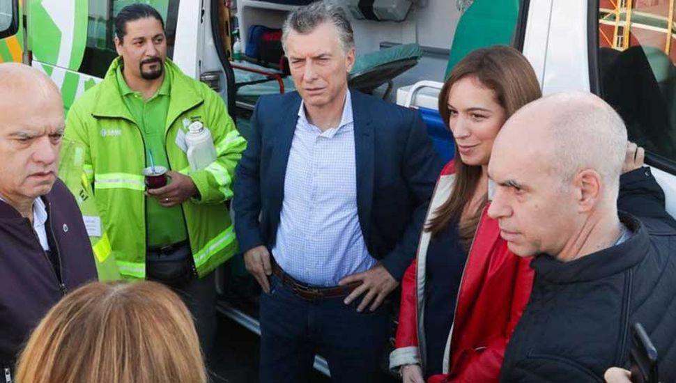 Macri, Vidal y Larreta: foto de unidad por la reelección