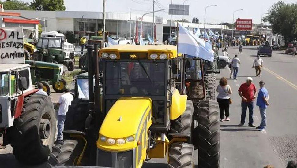 El tractorazo realizado en Pergamino días atras.