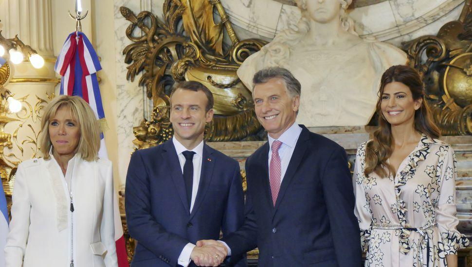"""Macron destacó """"espíritu de seriedad"""" de la gestión Macri y comprometió su apoyo para el ingreso de Argentina a la OCDE"""