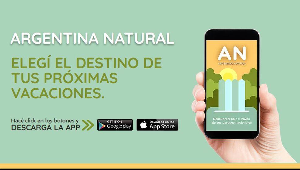 Crean una app para conocer los servicios turísticos de los 35 parques nacionales