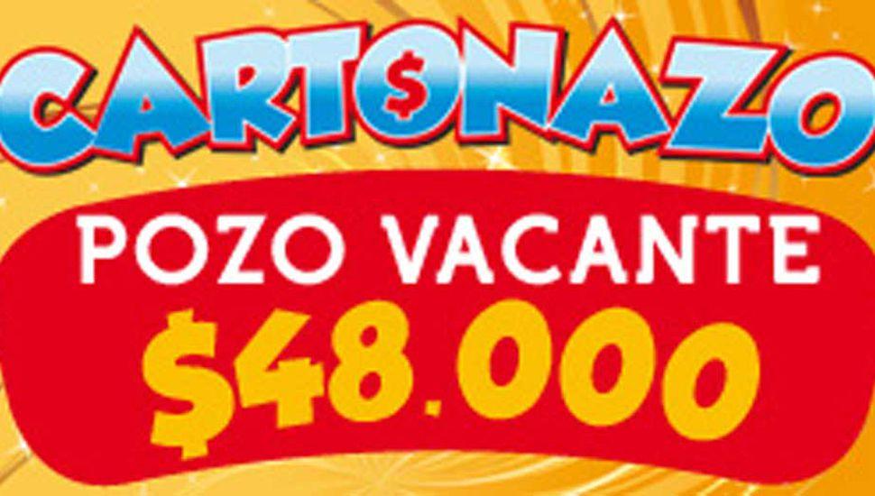 El Cartonazo crece: el pozo de esta semana es de 48 mil pesos en efectivo