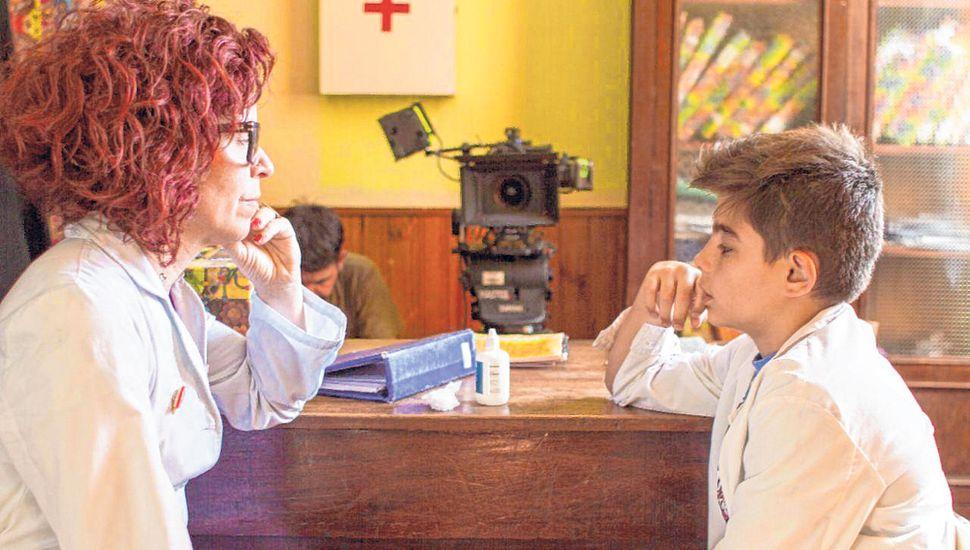 Carolina Chaves en una escena del largometraje.