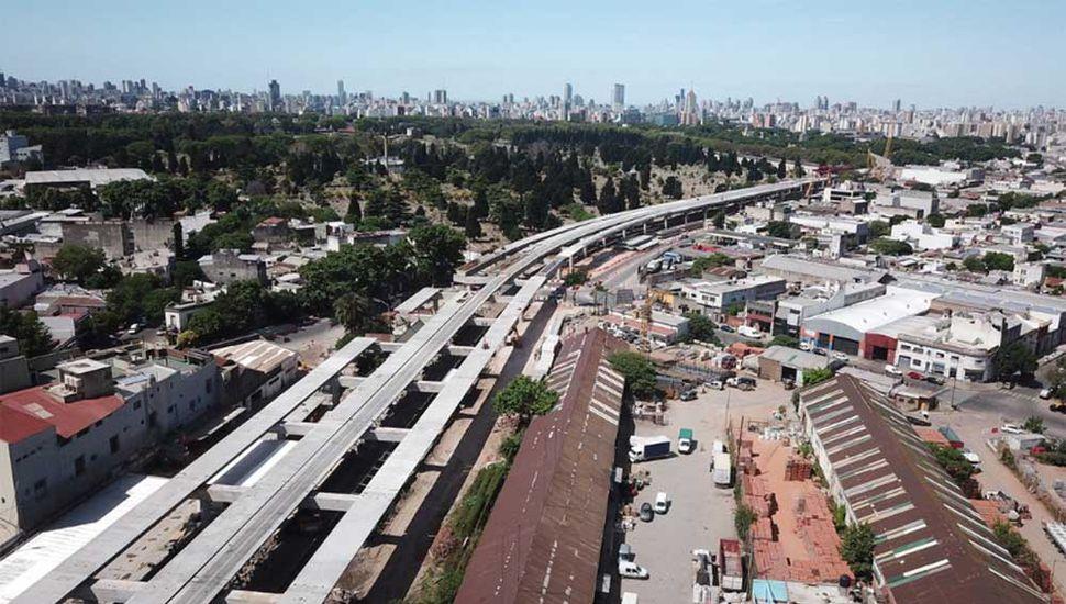 Panorámica del viaducto San Martín.