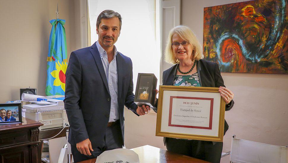 La embajadora de Irlanda visitó Junín