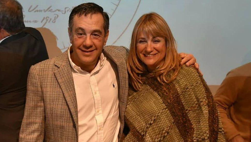 Erica Revilla estuvo junto a Alejandro Finocchiaro en la Unnoba de Junín