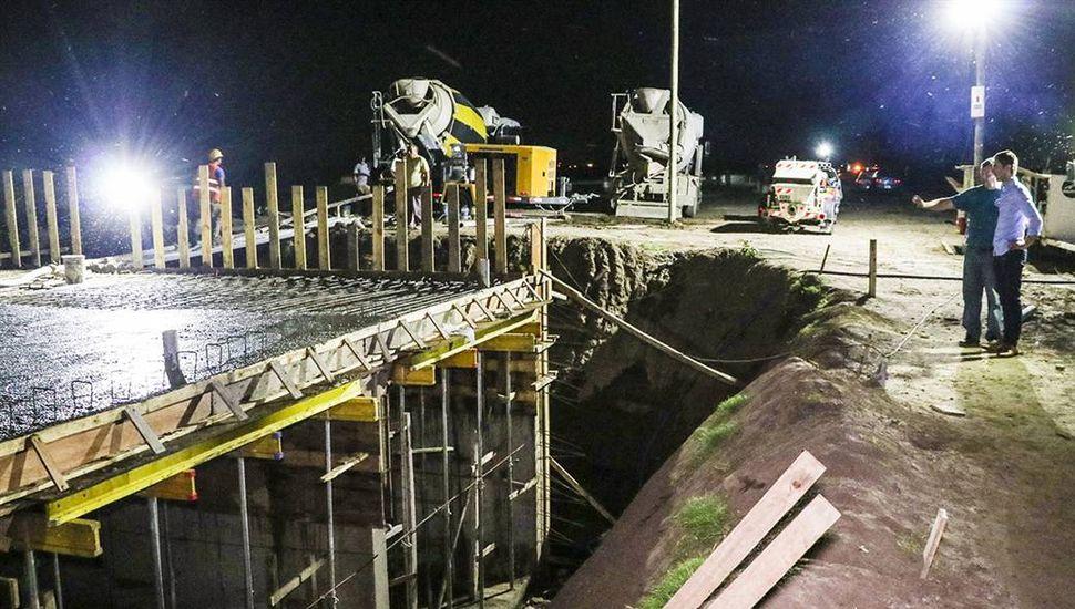 Avanzan los trabajos en la nueva alcantarilla del Puente Lincoln