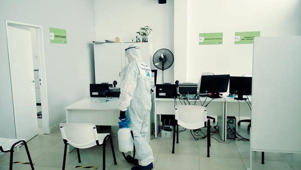 Desinfecciòn en Junín