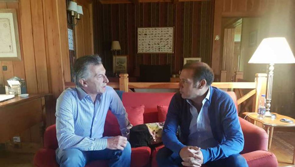Mauricio Macri y Omar Guitiérrez se reunieron en Villa La Angostura.