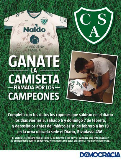 Sarmiento: ganá la camiseta firmada por los campeones