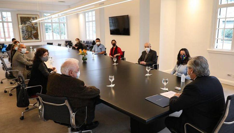 Terapistas se reunieron con el presidentes