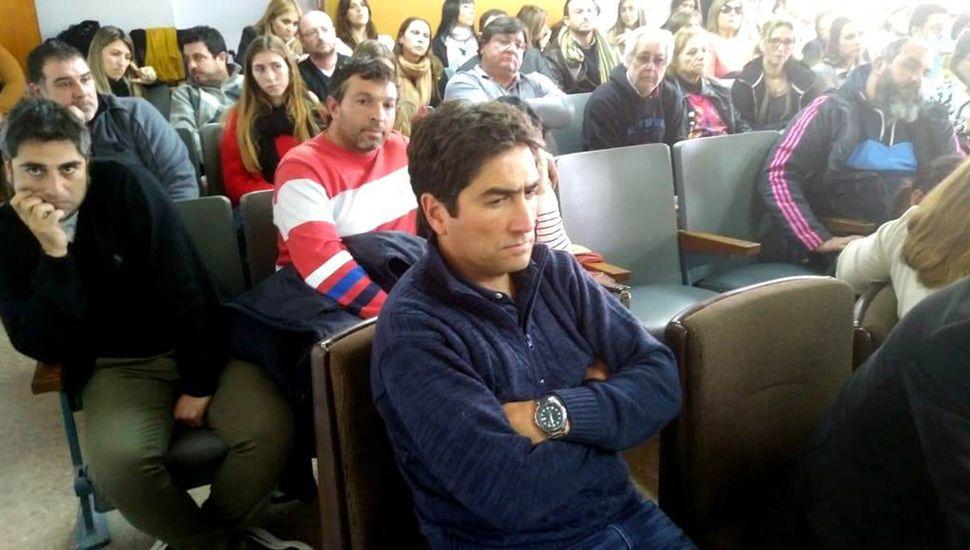 Hugo Martínez, atento en el juicio, perdió a toda su familia.