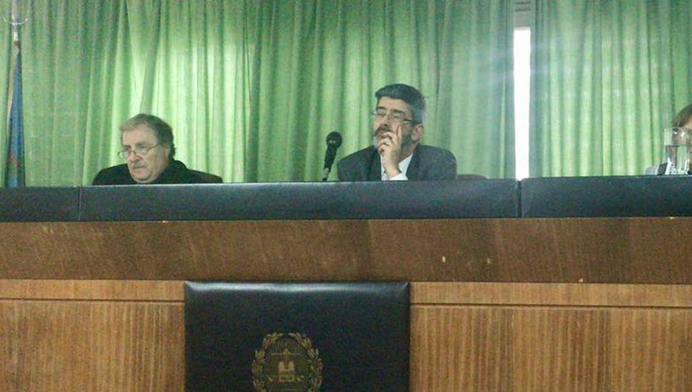El Tribunal Oral 1: Héctor Barbera, Jorge Cóppola y Claudia Dana.