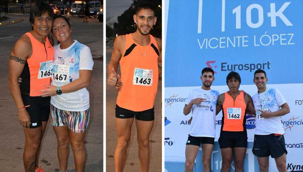 Gustavo Frencia y Chiara Mainetti marcaron el  rumbo en la prueba pedestre de Vicente López