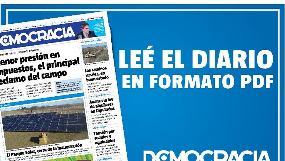 Edición especial y gratuita de Democracia en formato digital