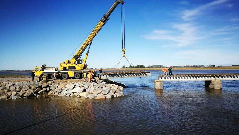 Luego de las pruebas de fuerza, el puente de Mechita quedó habilitado.