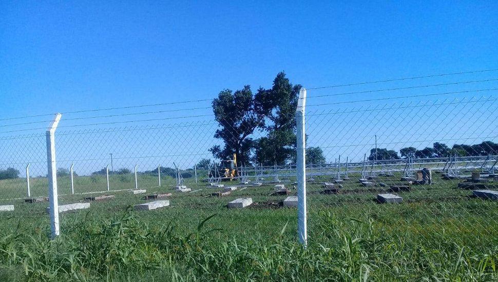 Trabajos para instalar el Parque  Fotovoltaico.