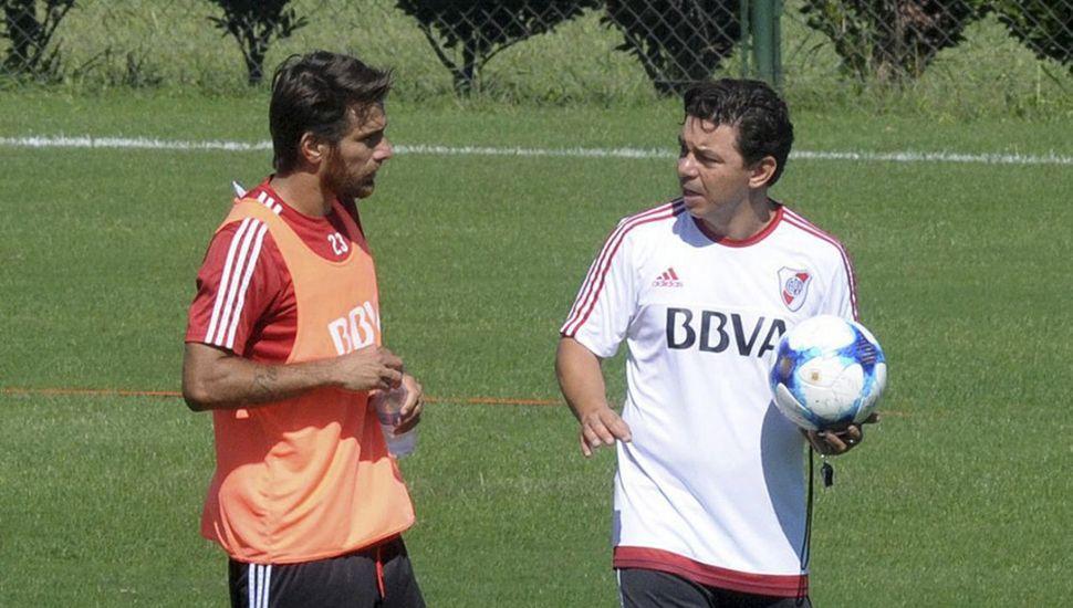 Leo Ponzio y Marcelo Gallardo.