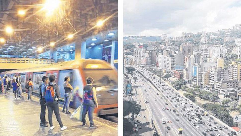 El subte de Caracas transporta al año 500 millones personas que no pagan pasaje. La nafta también es gratis.