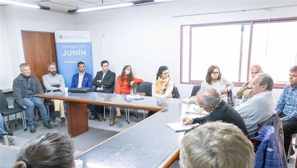 El encuentro, en la Secretaría de Desarrollo del Municipio.