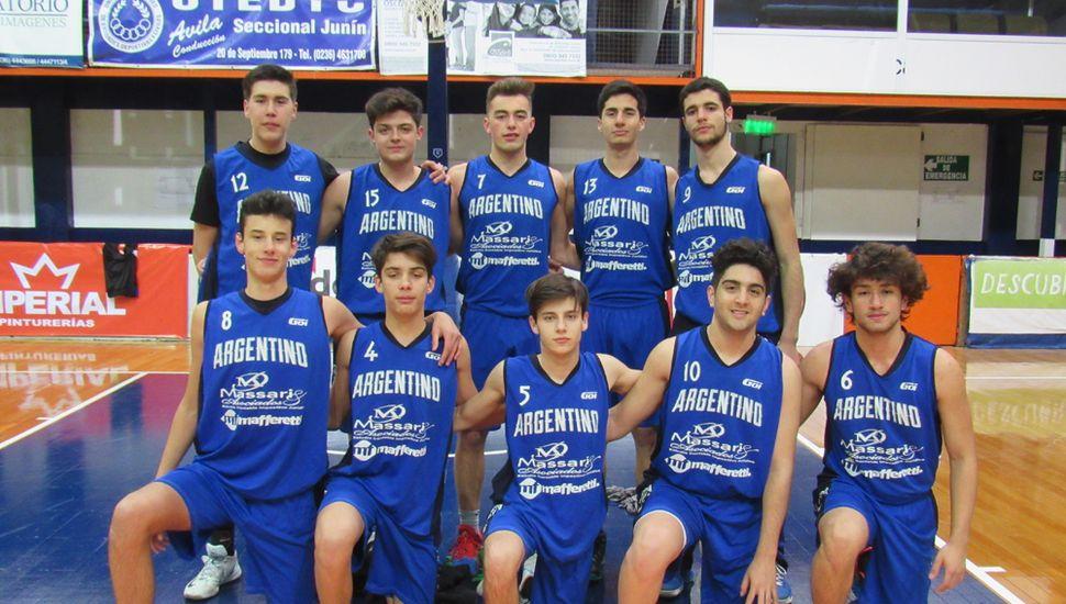 Plantel de U17 de Argentino de Junín.