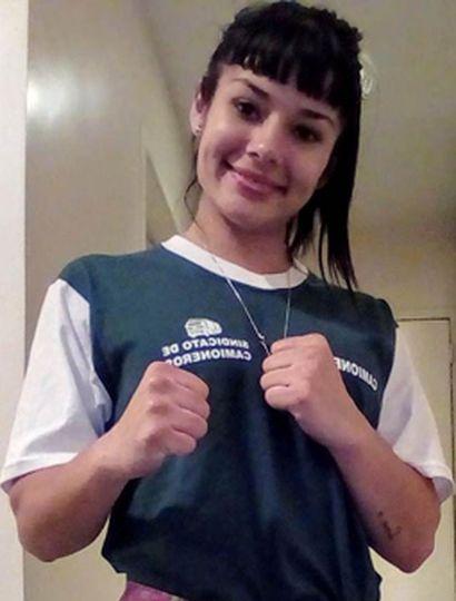 """Anahí Débora """"La Indiecita"""" López se prepara para defender el título argentino, el próximo viernes 12."""