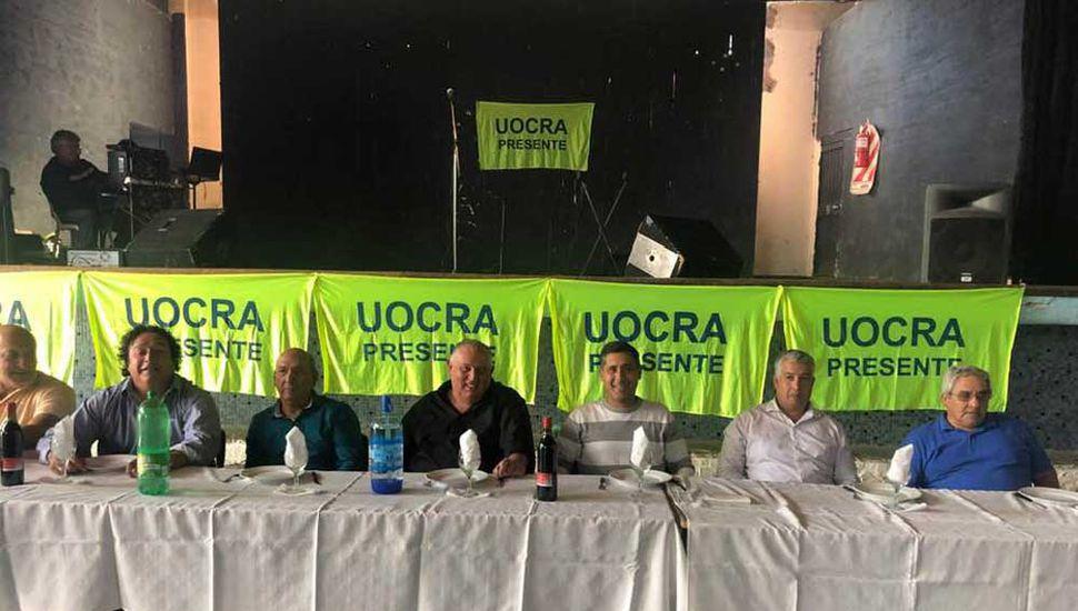 El gremio de la construcción celebró su día con un gran almuerzo en el club Rivadavia de Junín.